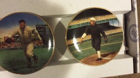 The Bradford Editions Tris Speaker and Christy Mathewson Legends of Baseball Miniature Plates in Yorkville, Illinois