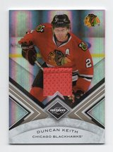 CHICAGO BLACKHAWKS DUNCAN KEITH GAME USED JERSEY CARD #'ed 171/199 in Oswego, Illinois