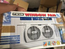 Twin Window Fan perfect for Dorms Rm or Kitchen in Okinawa, Japan