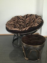 Poposan Chair with Foot Stool in Ramstein, Germany