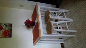 Small White Table with Stools in Tyndall AFB, Florida