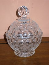 "crystal candy dish w/lid 6""h in Bolingbrook, Illinois"