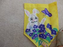 Easter Rabbit with Purple Flowers Mini Garden Flag in Naperville, Illinois