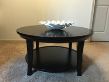 Pottery Barn METROPOLITAN ROUND COFFEE TABLE - Black Finish in Bellaire, Texas