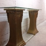 Elegant entry way table with beveled glass top in Ramstein, Germany