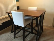 """Breakfast Table and 2 Bar stools with backrest 26"""" Seat Height in Bellaire, Texas"""