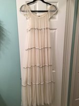 Beautiful ivory dress with silver sequins in The Woodlands, Texas
