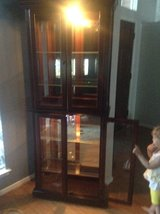 Pulaski Lighted curio cabinet.  Excellent condition. in Houston, Texas