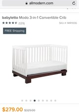 Babyletto Modo 3-in-1 Convertible Crib (Good Condition - 1 Child Use) in Kingwood, Texas