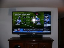 "70"" Sharp Aquos 3D TV w/Polk surrond sound bar & subwoofer, and 2 pair glasses in Fort Wayne, Indiana"