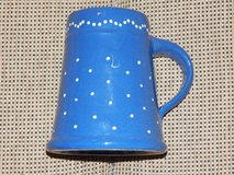 Hand-Painted Blue and White Dot Stein in Stuttgart, GE