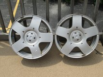 Set of 4 VW Avus Wheels, 15x 6, 5 x 100 Bolt, 2 with Tires in Bolingbrook, Illinois