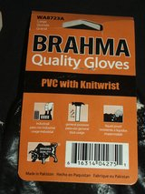Safety Work Gloves Liquid Proof PVC Coated Cotton NEW in Naperville, Illinois