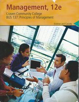 BUS-137: Principles of Management Craven Community College 12e $75 in Cherry Point, North Carolina