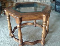 Beveled Glass Oak End Table in Tinley Park, Illinois