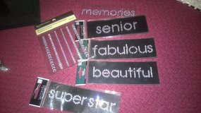 rhinestone words and dots in Glendale Heights, Illinois