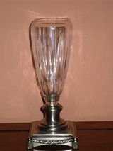 crystal vase on silver metal base in Naperville, Illinois