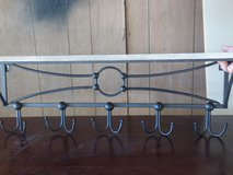 Wood shelf with Black hooks- Great in Old World decor in DeKalb, Illinois