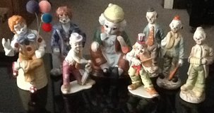Collection of Clown Figurines in Byron, Georgia