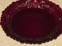 "2 vintage glass cape cod ruby 7-1/2""plates in St. Charles, Illinois"