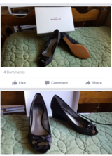 Size 7.5 Coach heels in Chicago, Illinois
