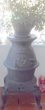 Antique cast iron  wood stove heater approx.100 years old in Alamogordo, New Mexico