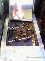 stainless steel bar-b-q roastery with one burner on side in Fairfield, California