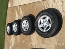 Toyota Tacoma 6 lug 265/70R16 wheels and tires set in Fort Polk, Louisiana