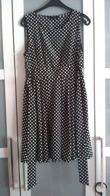 An'ge black polka dot dress in Ramstein, Germany