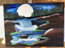Cascading falls painting in Camp Pendleton, California