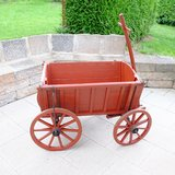 Antique Large Brown Red Wooden Wagen in Ramstein, Germany
