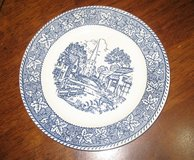 "5 Plates Homer Laughlin 7 1/4"" Shakespeare Country Blue Pattern Stratwood Collection Blue in Kingwood, Texas"