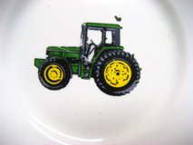 "Vintage Farm John Deere 9"" Plate Tractor Green Gibson Yellow Country Rustic in Kingwood, Texas"