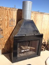 Fire place in Yucca Valley, California