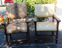 2 LARGE RE-UPHOLSTERED CHAIRS in DeKalb, Illinois