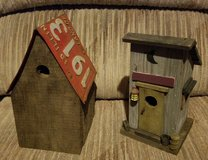 2 custom folk art bird houses in bookoo, US