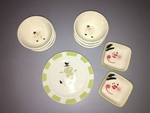 14 piece dinnerware set ~ snowman ~ neat! in Elgin, Illinois