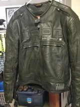Icon leather jacket in Fort Benning, Georgia
