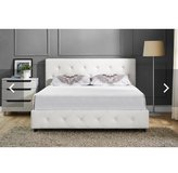 Twin white upholstered bed in Columbus, Ohio
