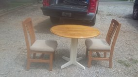 Foldable table w/2chairs in Hopkinsville, Kentucky