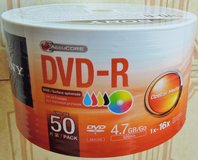 SONY 4.7GB 16X DVD-R Inkjet Printable Recordable Spindle Discs-50ct, # 50DMR47FB in Joliet, Illinois