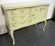 Antique Chippendale Vanity Cabinet with Gold Leaf Highlights in Ramstein, Germany