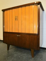 Mid Century Two Tone TV Stand or Mini Bar in Miramar, California