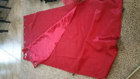 "84"" red curtain set in Fort Riley, Kansas"