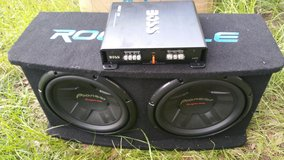 "speakers Two 12"" subwoofers pioneer Champion series & Boss amp in Beaufort, South Carolina"