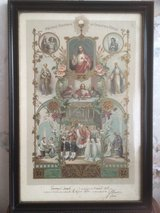 Holy Picture Souvenir de Communion 1918 from France in Ramstein, Germany