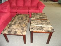 Marble Veneer coffee and 2 end table brand new in Fort Knox, Kentucky