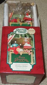 "San Francisco Music Box Company Musical Ornament ""Christmas Stitches"" New in Joliet, Illinois"