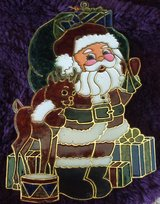 Beautiful Santa and Rudolph sun catcher in New Lenox, Illinois