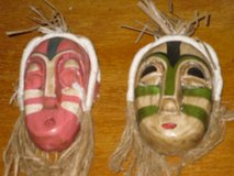 "pr of small (4""h) masks in Oswego, Illinois"